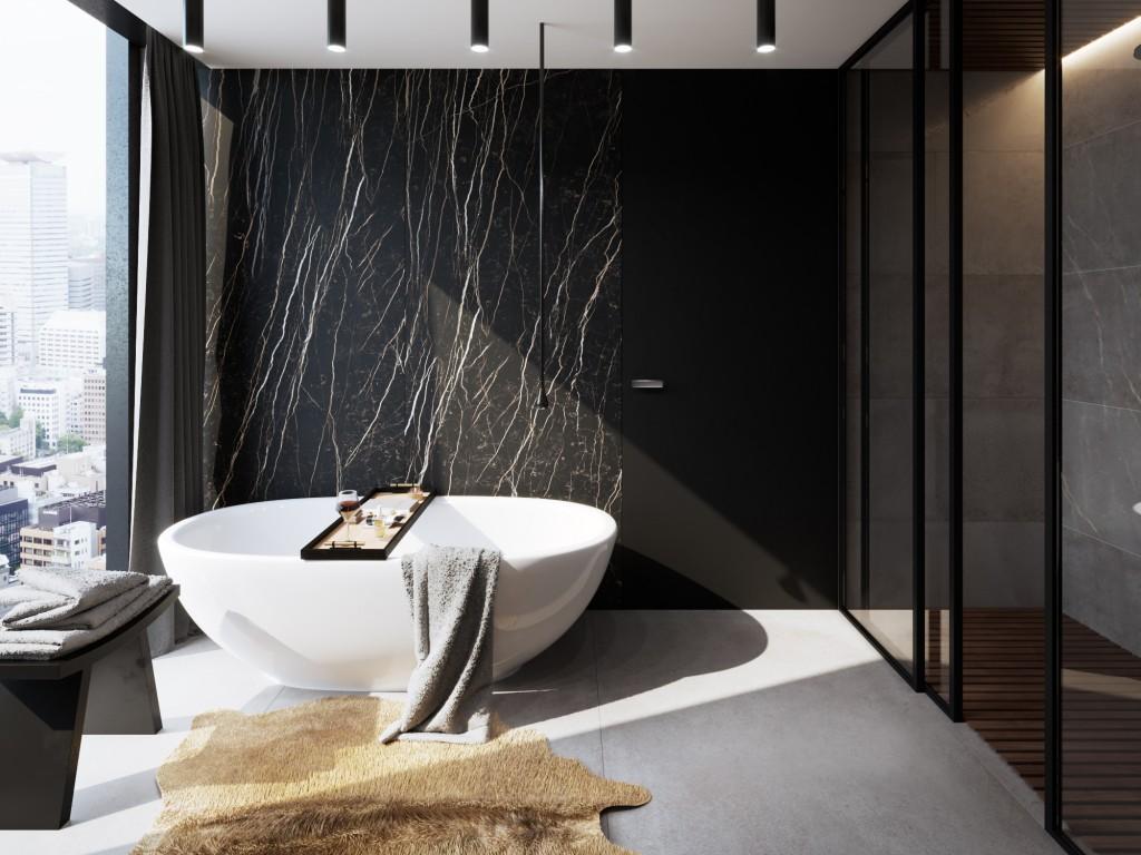 łazienka styl wielkomiejski wanna